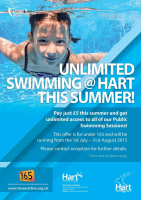 Under 16s can swim for £5 this summer