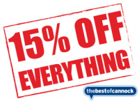 15% off everything!