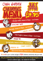 Childrens Menu - July 2015