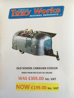 Quirky Old School Caravan Cooler at Towy Works Ltd