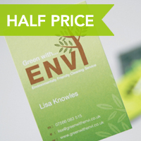 HALF PRICE - SMOOTHWOVE BUSINESS CARDS 500 FOR JUST £42