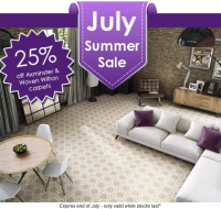 July Special Offer from @MilnersAshtead - Up to 25% Off Axminster & Woven Wilton Carpets