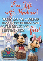 Free Gift with Purchase on the Disney Traditions range....