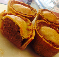 Small homemade pork pies, 2 for £2.