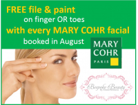 FREE FILE & POLISH WITH A MARY COHR FACIAL