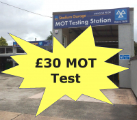 MOT test just £30