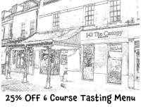 25% OFF 6 Course Tasting Menu