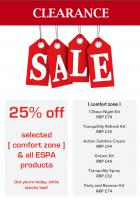 25% selected Espa products