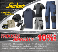 10% Off Snickers Trousers