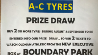 Win 2 Tickets to Watch Oldham Athletic