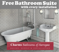 FREE Bathroom Suite with any Charms Installation
