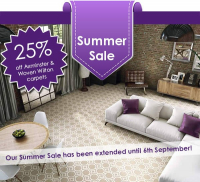 Special Offer from @MilnersAshtead - Up to 25% Off Axminster & Woven Wilton Carpets