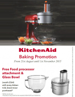 FREE Glass Bowl & Food Processor Accessory worth a stonking £264!