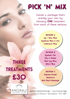 THREE TREATMENTS FOR JUST £30