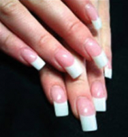 Acrylic Extensions, coloured tips £24