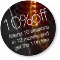 Attend 10 sessions in a year and earn the 11th FREE