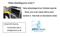 Oven Clean with FREE Hob or Microwave Clean