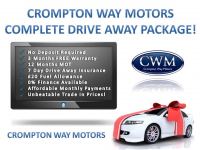 Crompton Way Motors Complete Drive Away Package