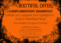 Complimentary Shampoo from Obsession Salon & Spa