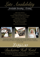 Wedding reception £1495