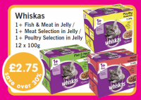 Save over 30% on Whiskas