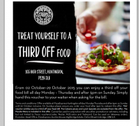 1/3rd off your bill at PIZZA EXPRESS