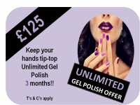 Unlimited Gel Polish Offer £125