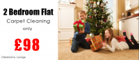 £98 special offer to clean your carpets in a 2 bedroom flat