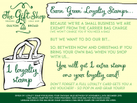Earn 'Green' Loyalty Card Stamps