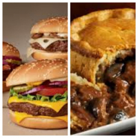 2 FOR 1  on The Bells Classic Farmhouse Homemade Pies and Burgers.