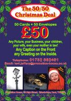 50 bespoke Christmas  Cards for £50!
