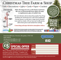 £5 Voucher Off Xmas Shop Purchases at Oswestry Xmas Tree Farm