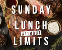UNLIMITED SUNDAY LUNCH £12.95