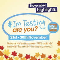 FREE Rapid HIV Tests during National HIV testing week