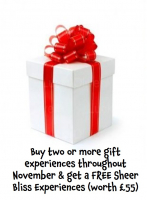Buy two or more gift experiences & get a FREE Sheer Bliss Experience (worth £55) at David Patrick. #Epsom
