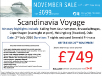 Scandinavia Voyage from £749 per person!
