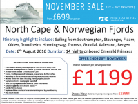 North Cape & Norwegian Fjords from £1199 per person!