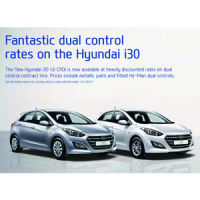 Fantastic dual control rates on the Hyundai i30