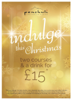 Indulge this Christmas 2 courses & a drink for £15