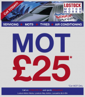 MOTs only £25! 50% off RRP