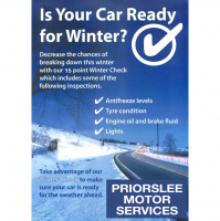 FREE WINTER CHECK at Priorslee Motor Services Telford