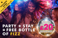 ROOMS FOR JUST £20 WHEN BOOKED WITH A PARTY / TRIBUTE NIGHT