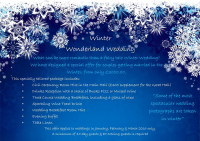 Winter Wonderland Weddings from only £3000