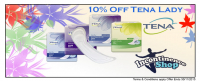 10% off all tena lady