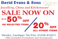 Massive January SALE at David Evans & Sons
