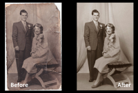 Old damaged photo, get it fixed. This Valentine's day save £10