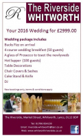 FULL WEDDING PACKAGE FOR £2999