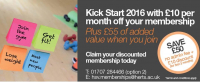 Kick Start 2016 with £10 off per month for your 1st 3 months of membership at Herts Sports Village
