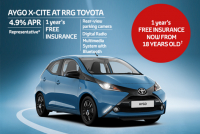 TOYOTA AYGO, NOW AVAILABLE WITH FREE INSURANCE FROM 18YRS OLD