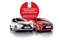 LOW RATE FINANCE ON APPROVED TOYOTA USED CARS